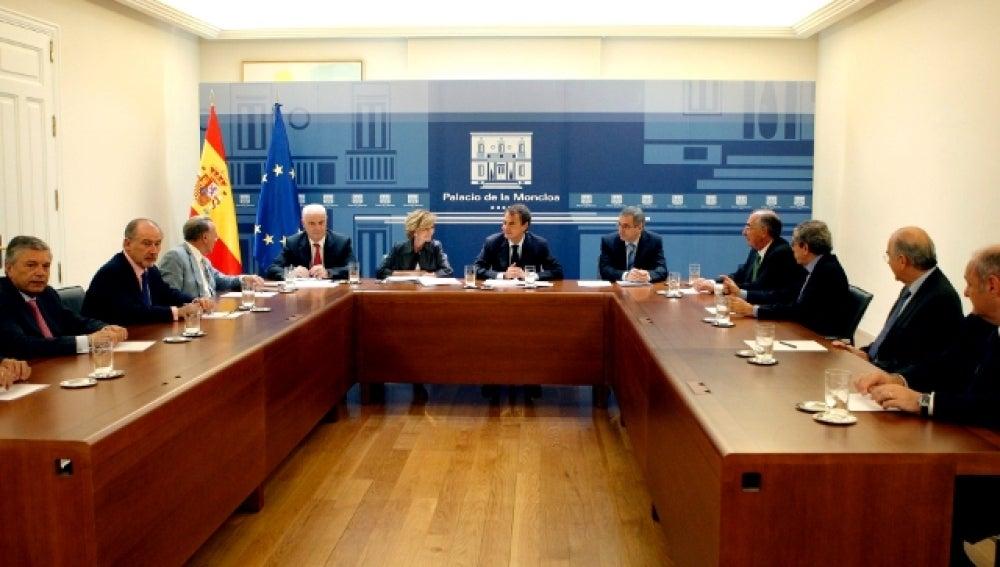 Zapatero reunido con la CECA