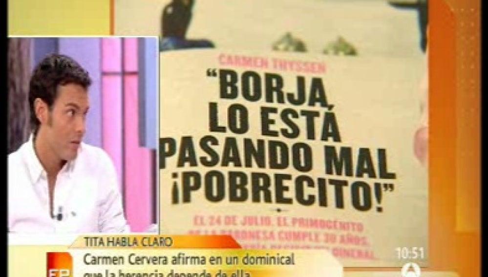 """Tita Cervera: """"Nuestra vida cambió cuando apareció Blanca"""""""
