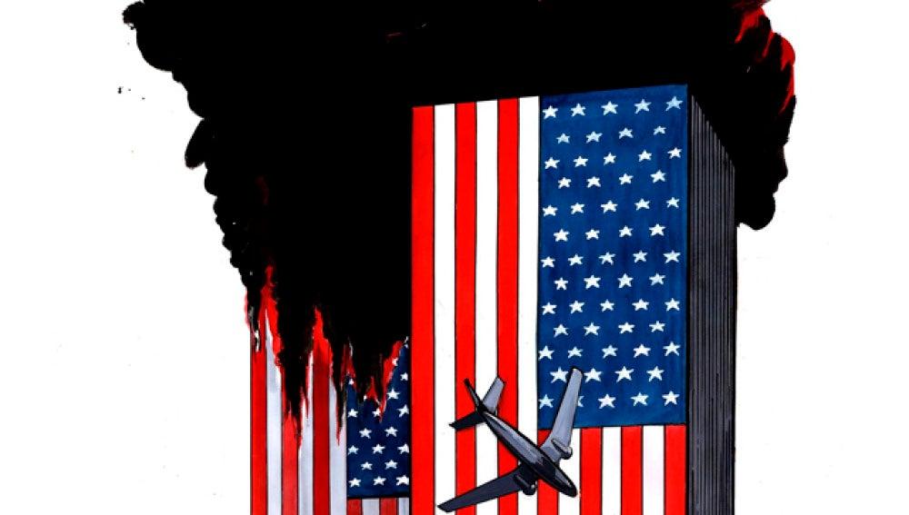 Arde la bandera americana