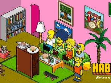 Habbo y los Simpsons