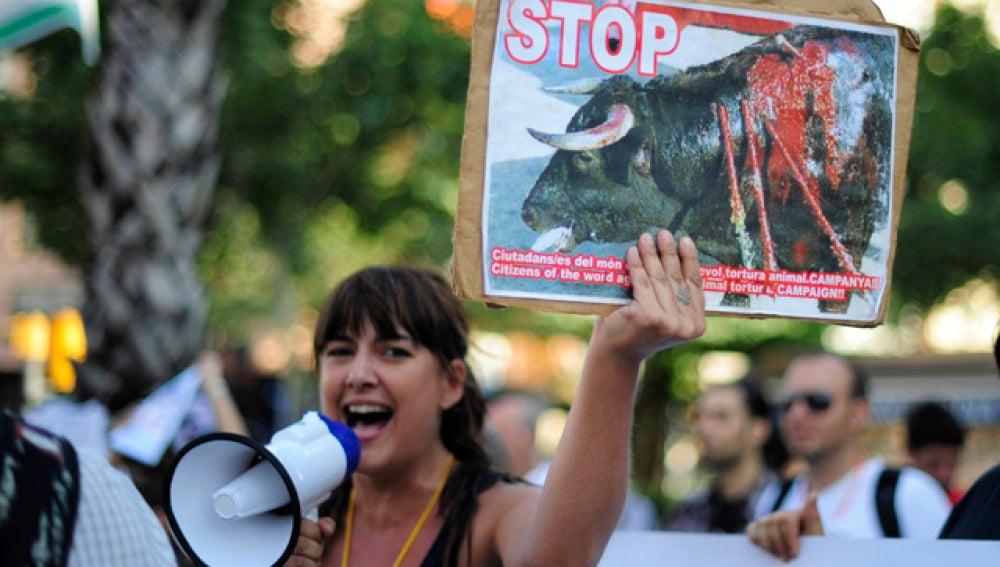 Protesta antitaurina en Barcelona