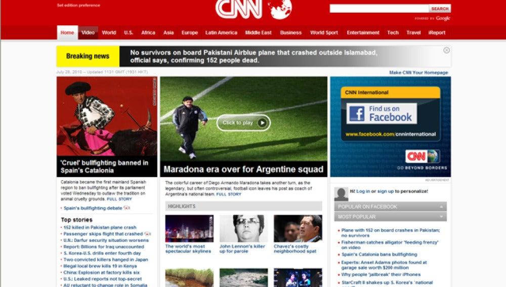 La portada de CNN destacaba la decisión catalana