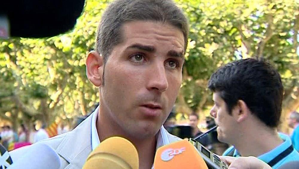Serafín Marín a la salida del Parlament