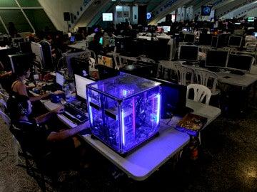 La Campus Party, de noche