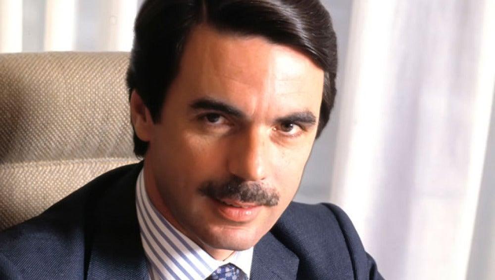 Jose María Aznar en su primera legislatura como presidente