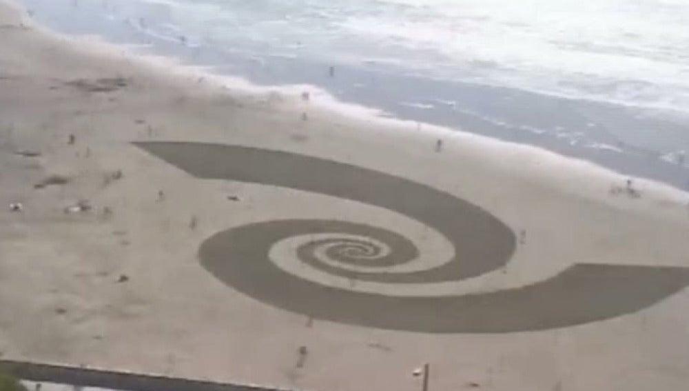 Arte sobre la arena