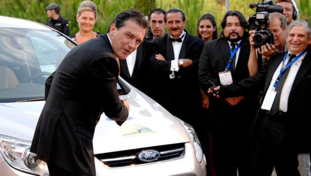 Antonio Banderas durante una gala en Marbella