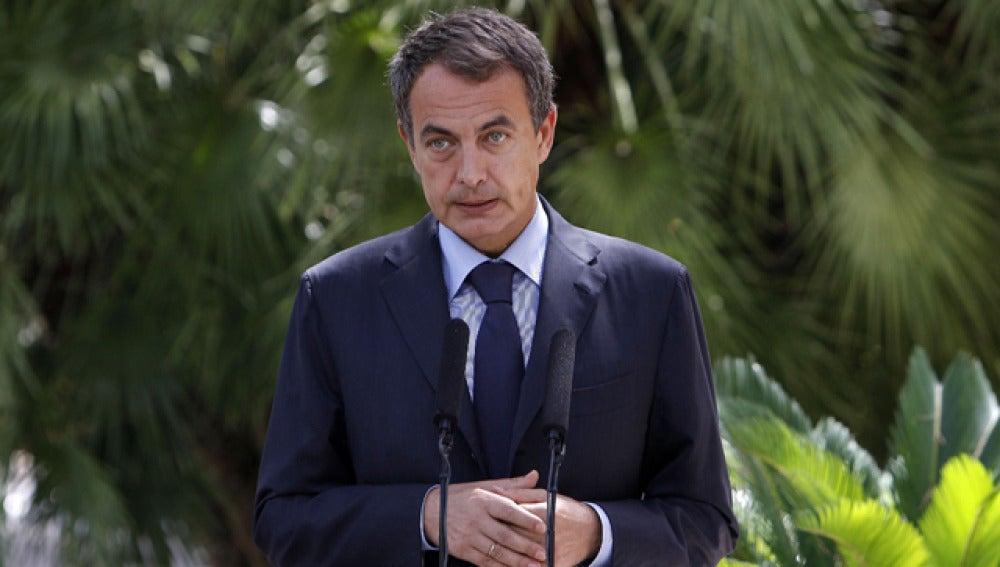 Zapatero en el palacio de Marivent