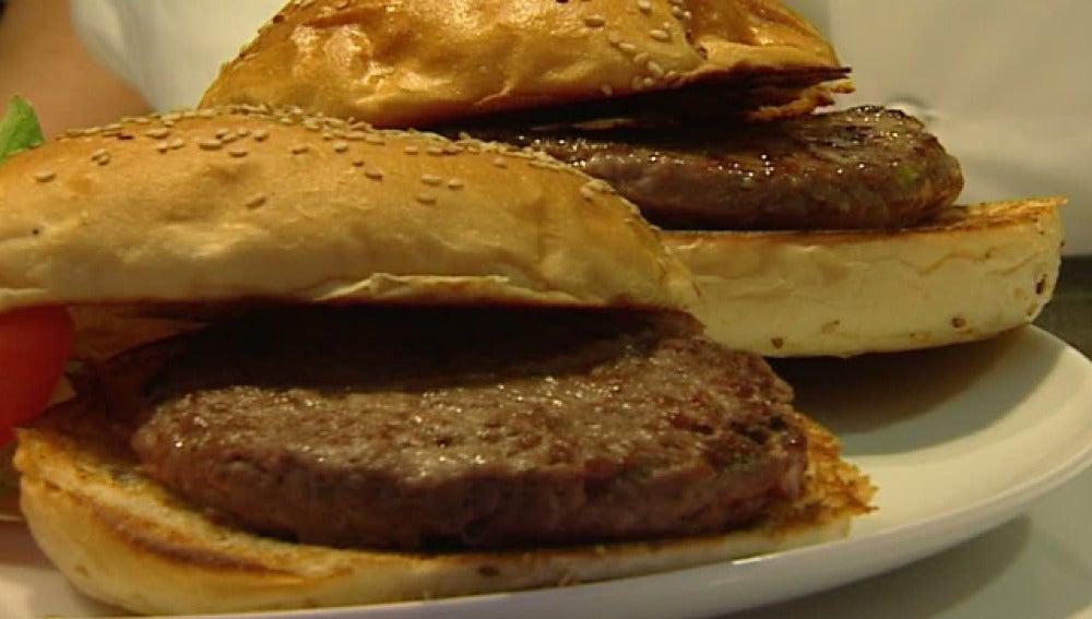 Plato de hamburguesas