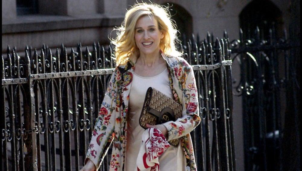 Sarah Jessica Parker durante el rodaje de la serie