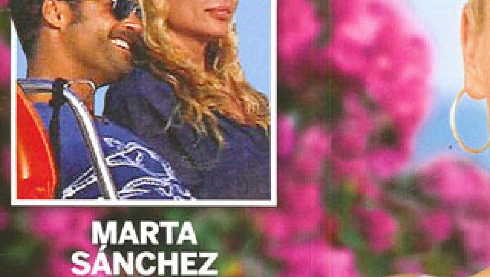 Marta Sánchez, con un joven en Ibiza