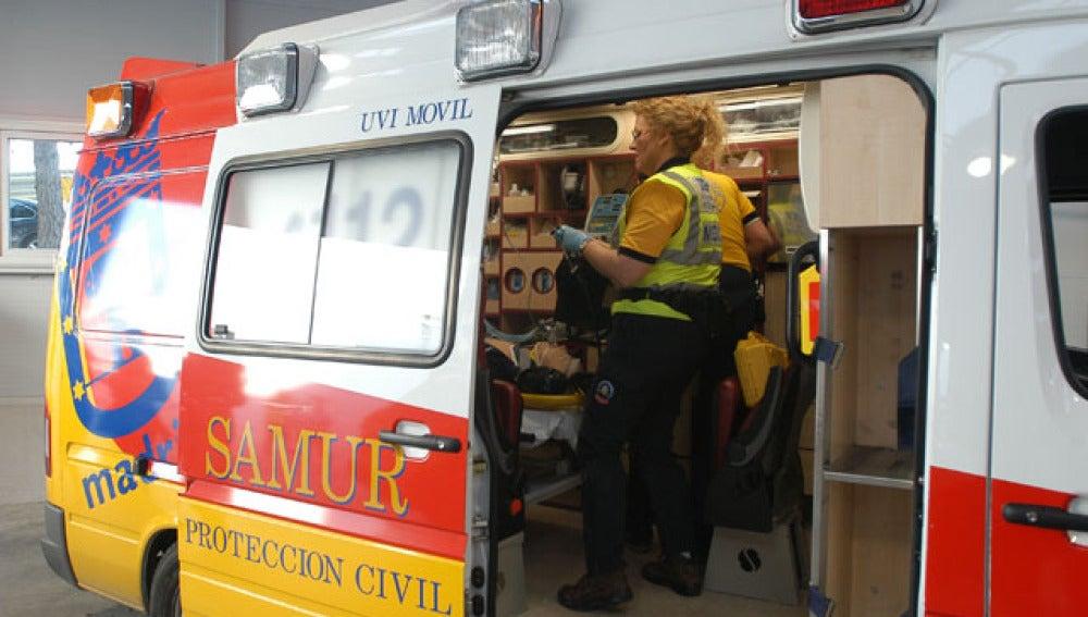 Una ambulancia del Samur (Archivo)