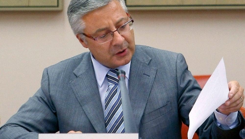 José Blanco en su comparecencia ante la comisión de Fomento