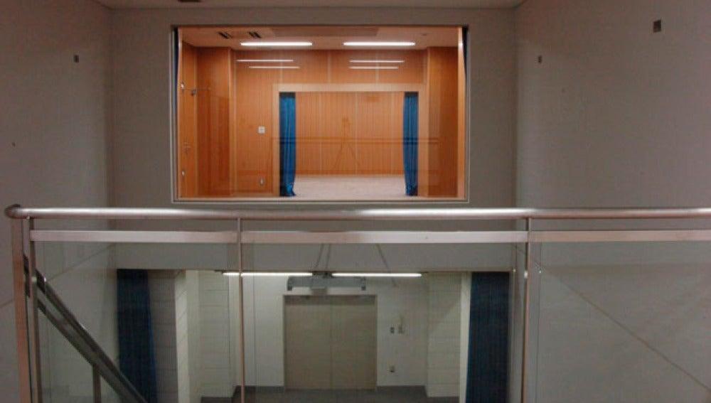 La sala donde se siguen las ejecuciones