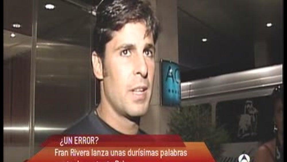 """Fran Rivera sigue """"duro de pelar"""""""
