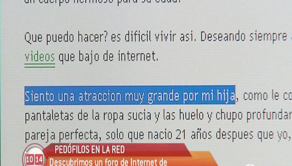 Pedófilos en la red