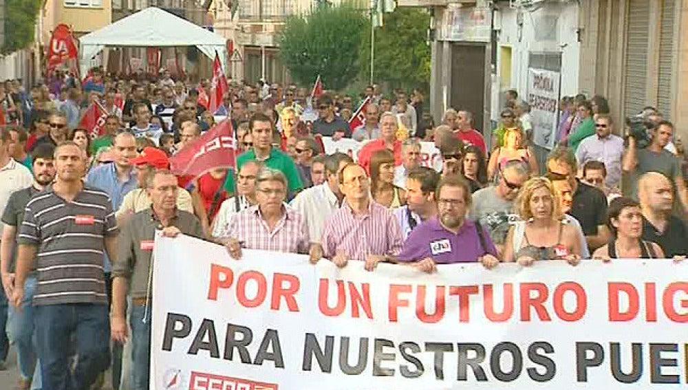 Protesta en Armino, Teruel