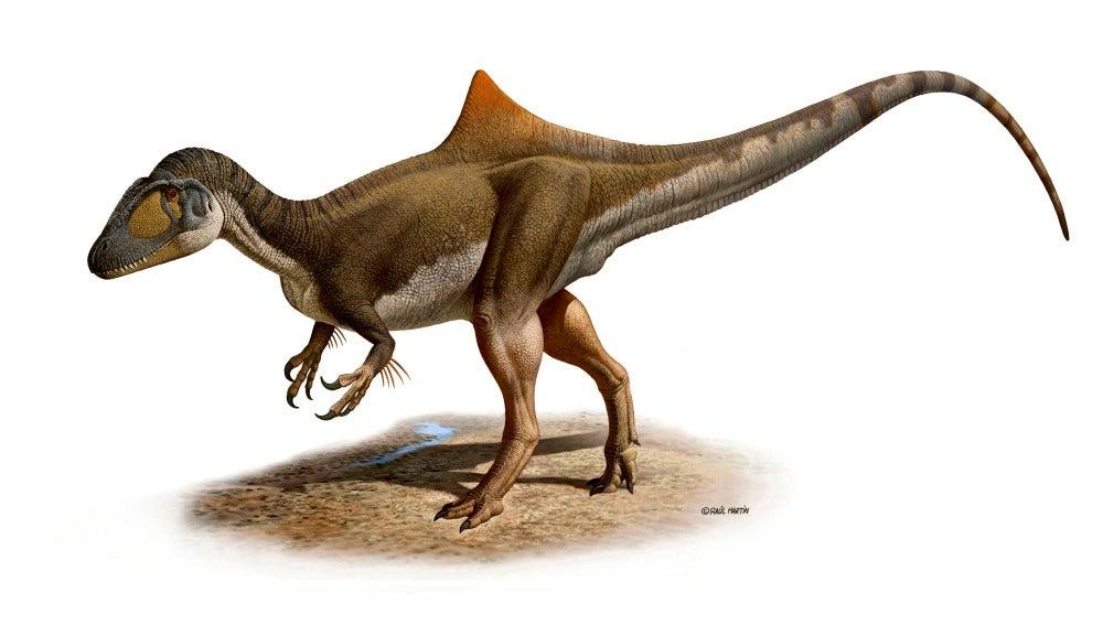 El dinosaurio jorobado