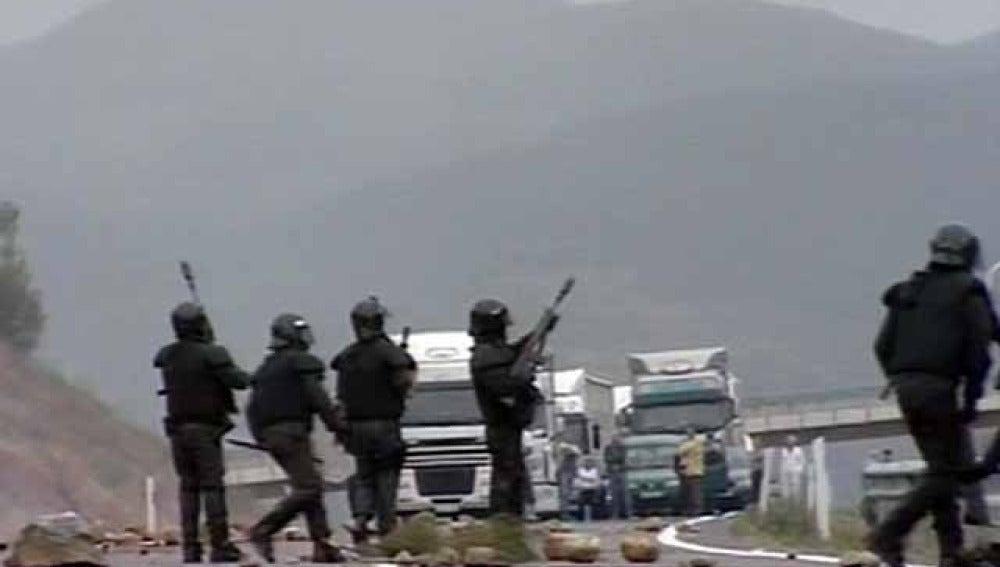 Protesta minera en el Bierzo