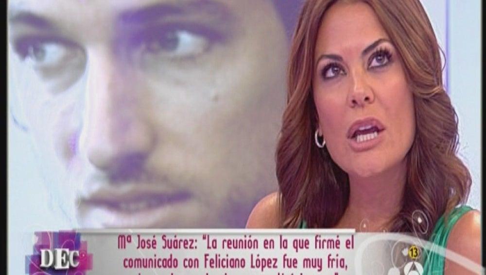 María José no quiso besar a Feliciano