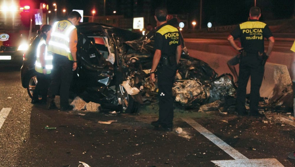 Estado en el que quedó el vehículo tras el accidente