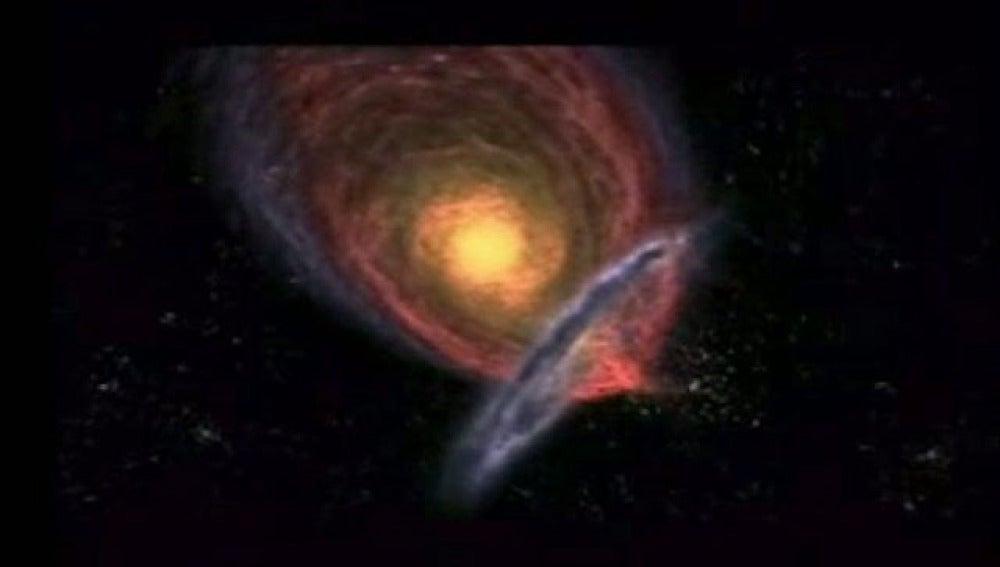 Los astrónomos han comprobado que las galaxias chocan