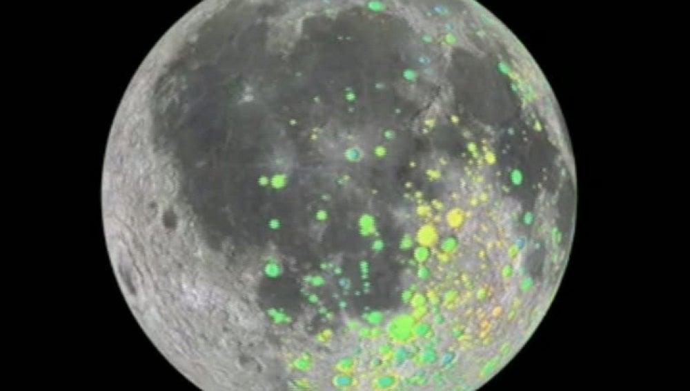 Mapa de los cráteres de la luna