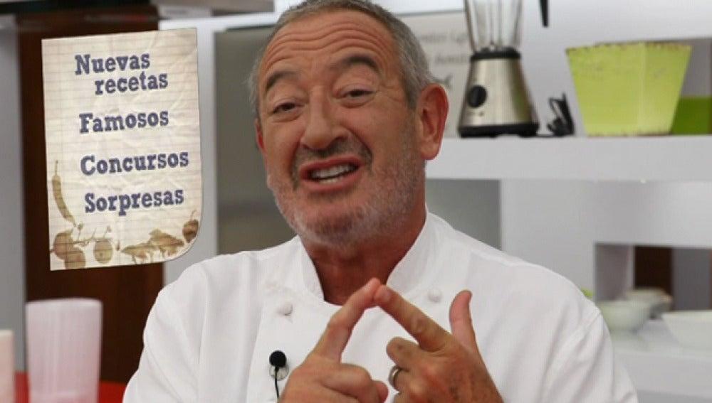 Karlos Arguiñano en su nueva cocina