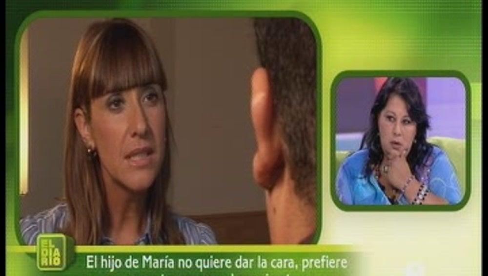 María quiere conocer a su hijo