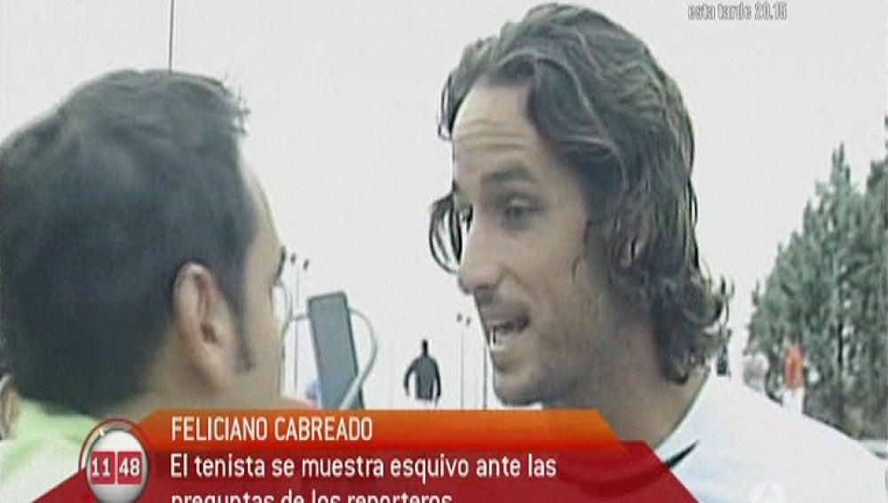 Feliciano López cabreado