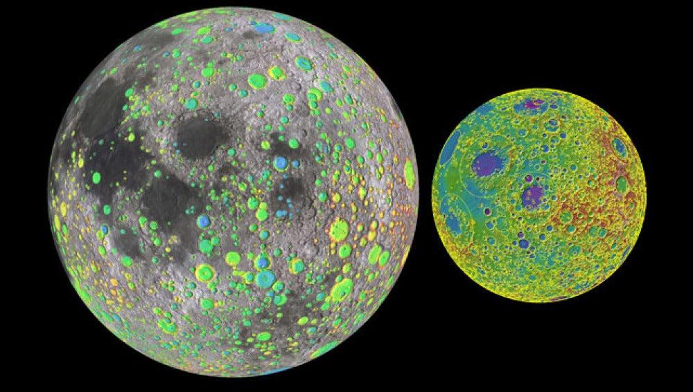 La luna, al detalle gracias a la NASA
