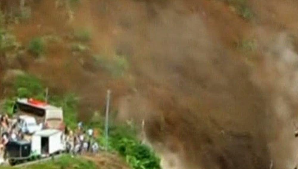 Corrimiento de tierras en Colombia