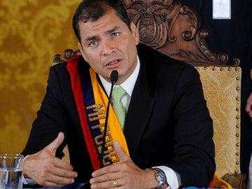 Rafael Correa, tras su liberación