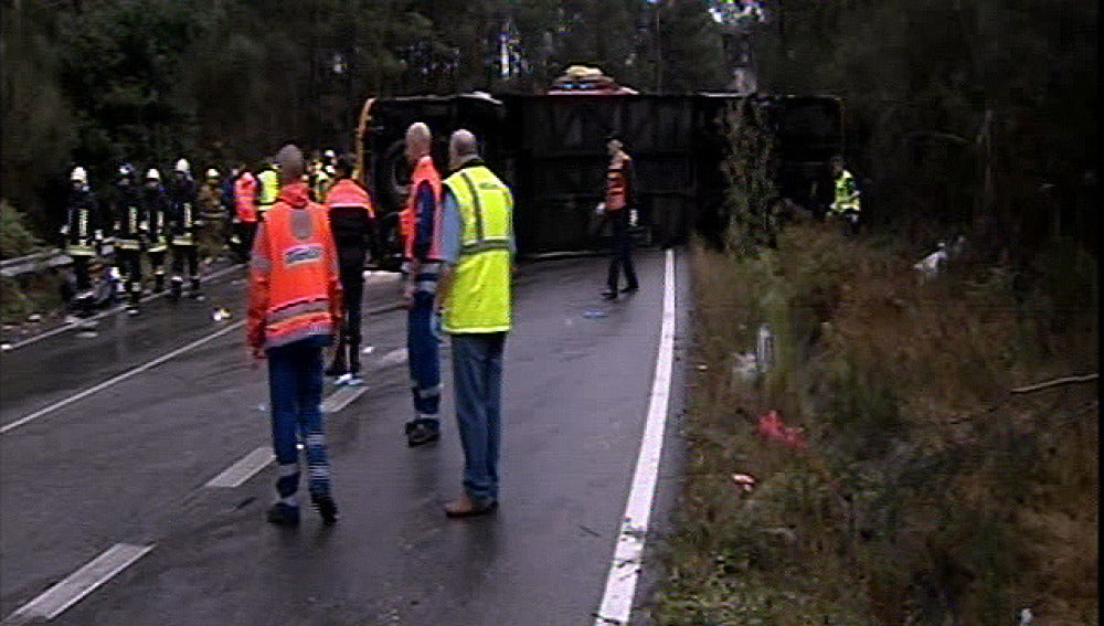 Accidente de autobús en Pontevedra