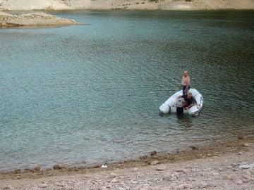 Accidente en un pantano de Badajoz