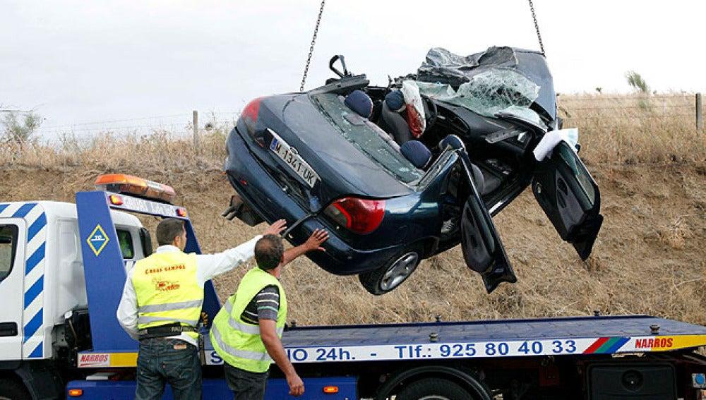 Vehículo accidentado en Toledo
