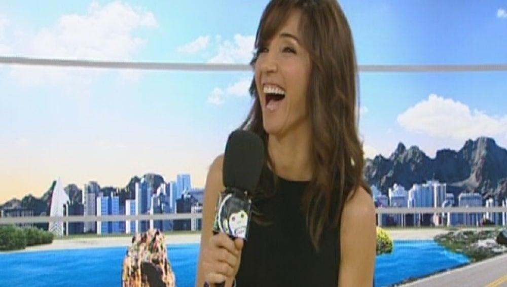 Paloma Lago contando un chiste