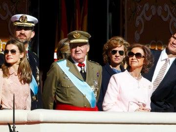 La Casa Real, durante el desfile