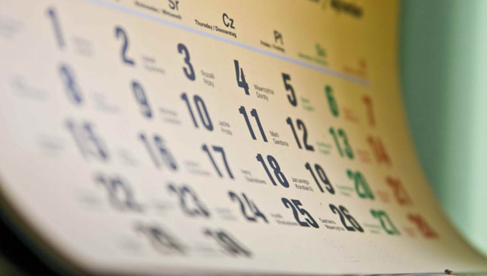Una hoja de calendario