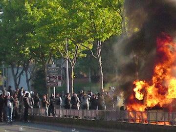 Protestas estudiantiles en Francia