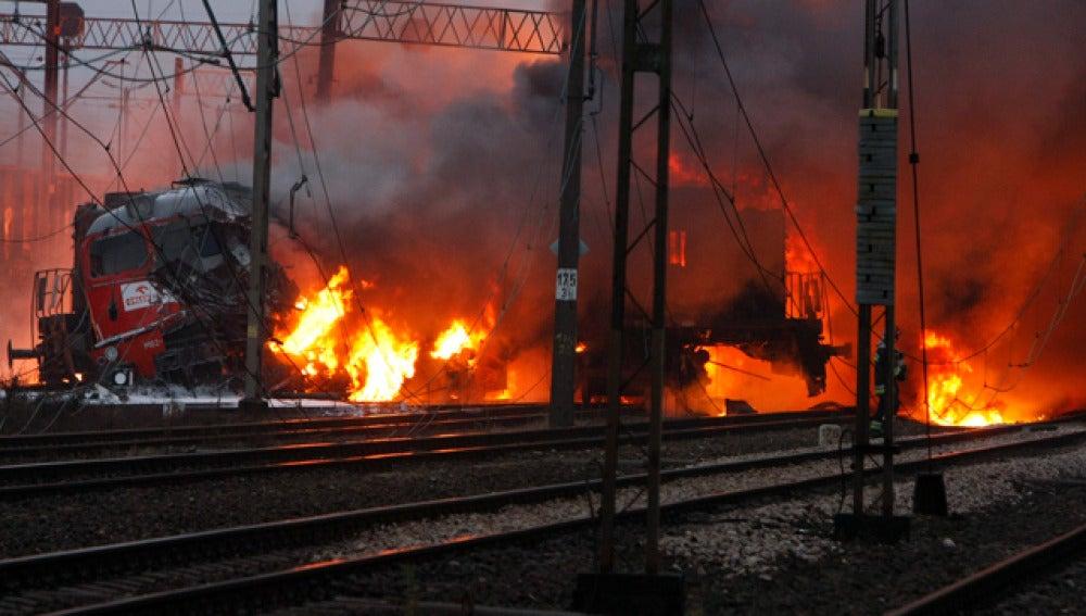 Choque de trenes en Polonia