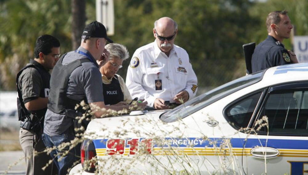 Efectivos de la policía durante un operativo de seguridad