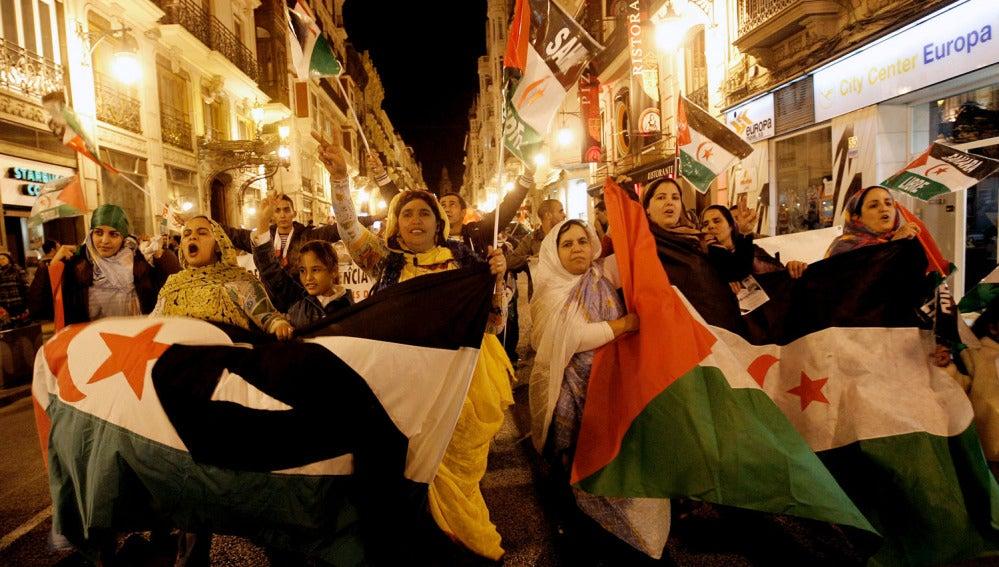 Protestas ante el consulado de Marruecos
