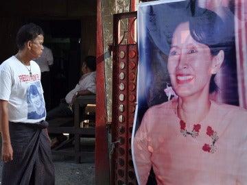 Aung San Suu Kyi, ganadora del Nobel de la Paz