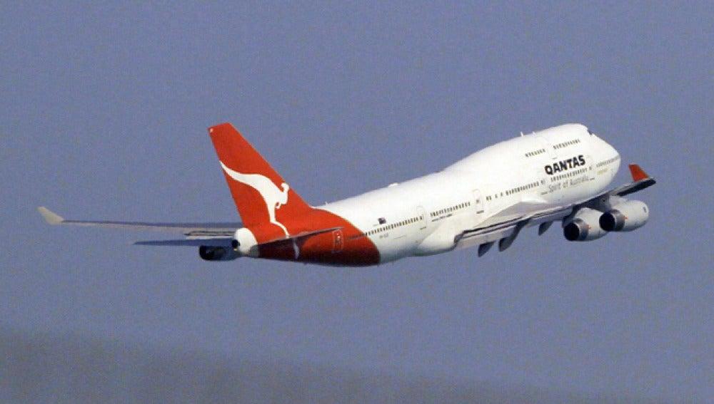 Un avión de la aerolínea Qantas