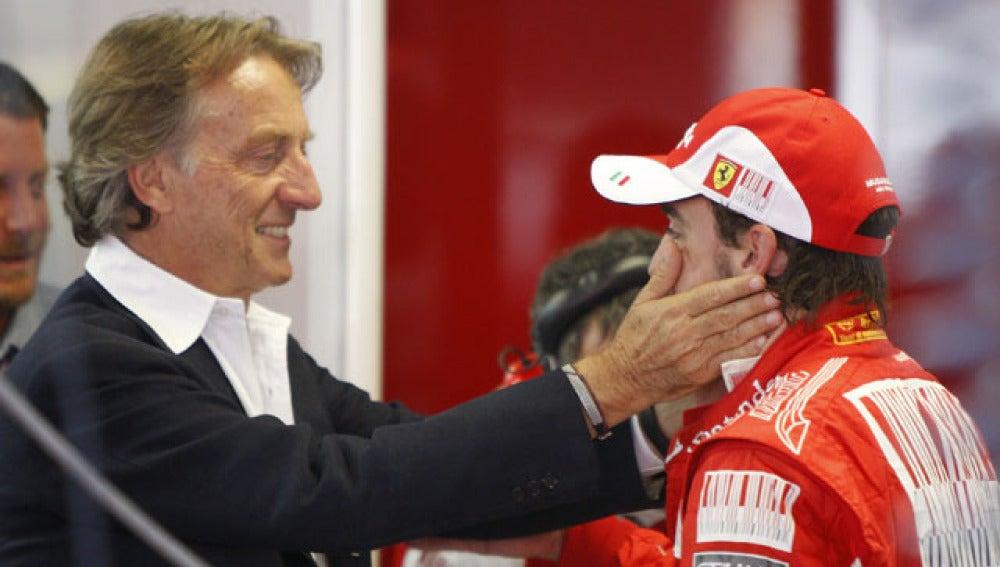 Montezemolo saluda a Alonso