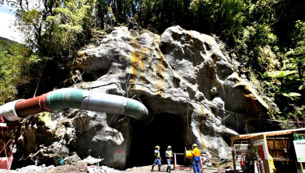 Mina neozelandesa en la que encuentran atrapados los mineros