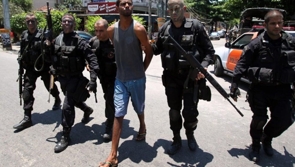 Un narcotraficante detenido por la policía