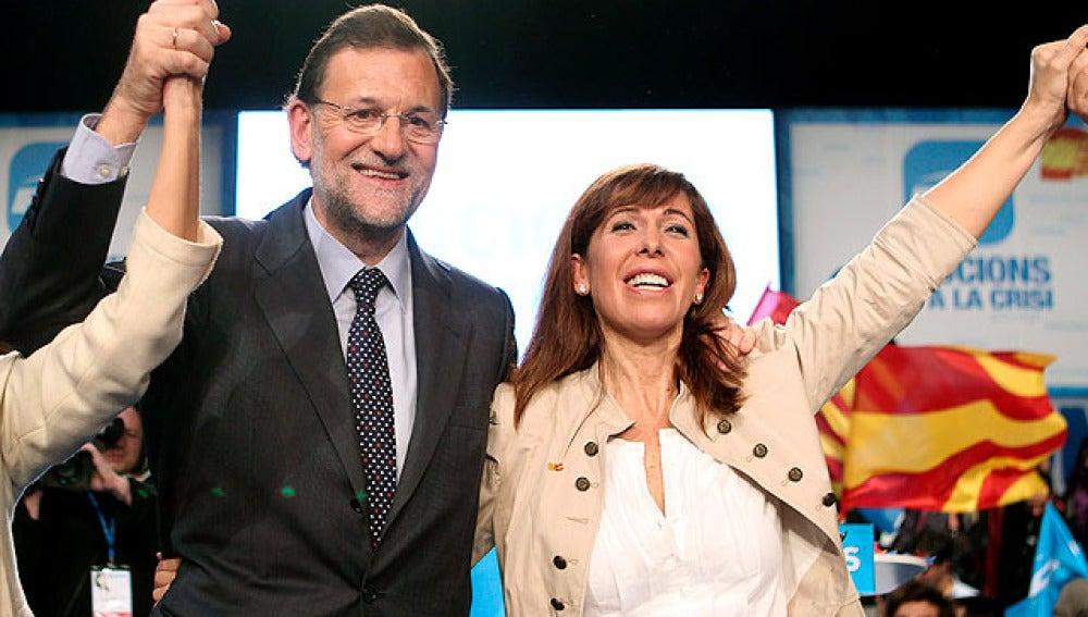 Mariano Rajoy con Alicia Sánchez Camacho