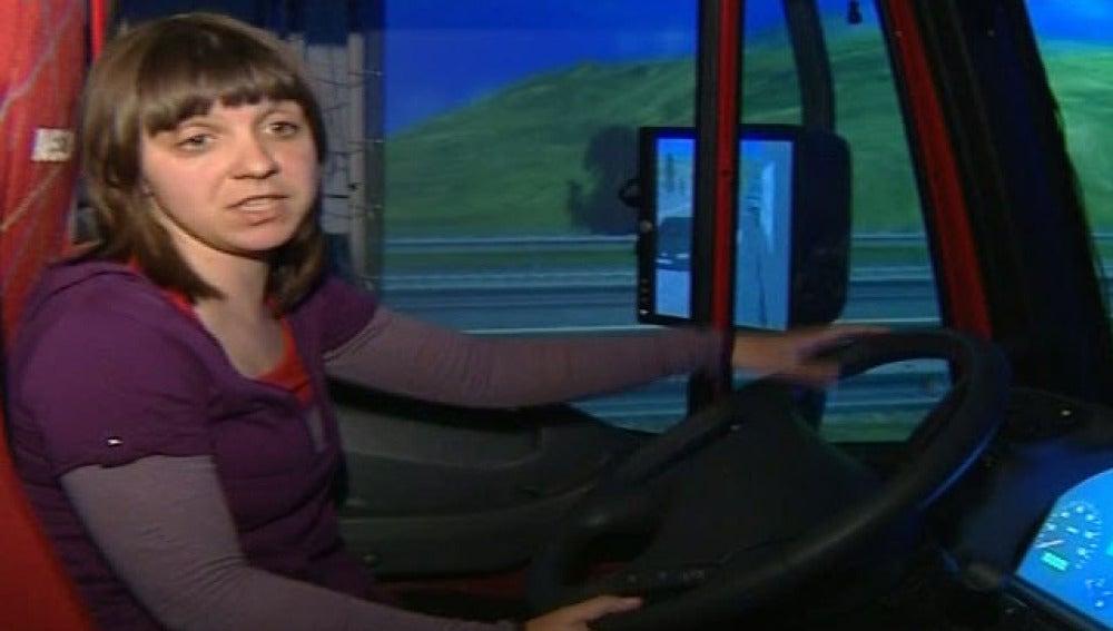 Dentro de un camión